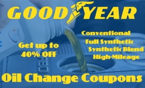 Goodyear oil change coupons