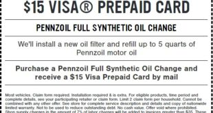 Firestone Full synthetic oil change coupon FEB 2018