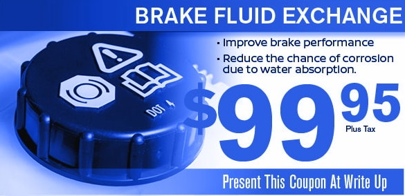 brake fluid exchange coupon