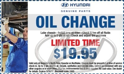 Hyundai Oil Change Coupon
