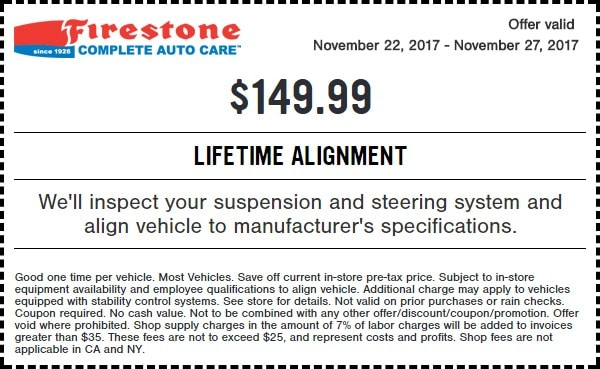 Firestone Black Friday Alignment Coupon