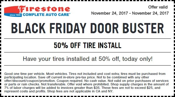 Firestone Black Friday Tire Deals 2017