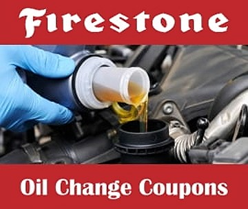 Use Firestone oil change coupons to save up to 30% on conventional, synthetic, high mileage or diesel motor oil