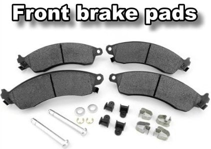 front brake pads cost