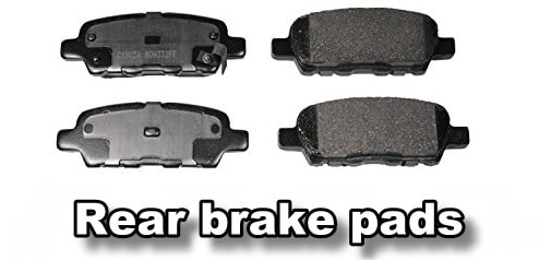 rear brake pads cost