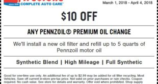 Firestone Premium Oil Change Coupon March 2018