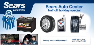 Use Sears auto coupons to save on car repair or regular maintenance services
