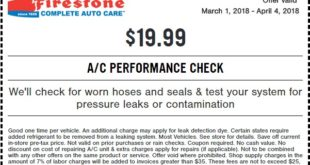 Firestone A/C Performance Check Coupon March 2018