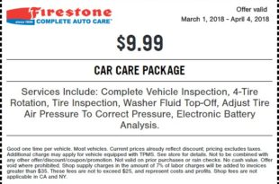 Firestone Car Care Coupon March 2018
