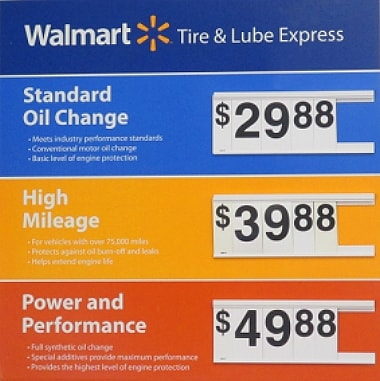 Walmart Oil Change Prices Updated January 2019