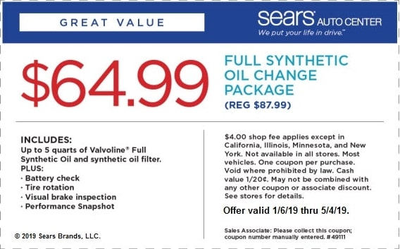 Sears Auto Coupons June 2019 78 Off With 11 Valid Coupon Codes