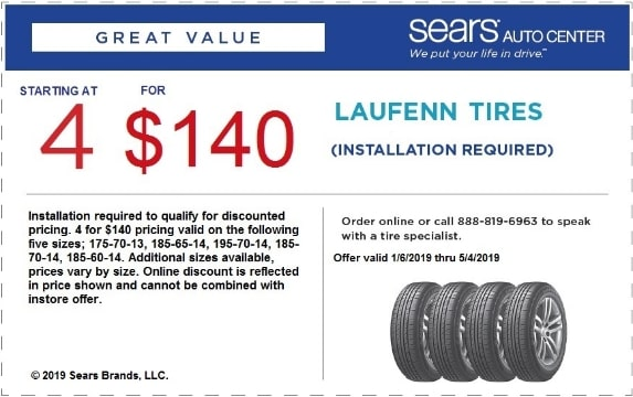 Sears Tires Coupons 2018 Save Time And Money Today