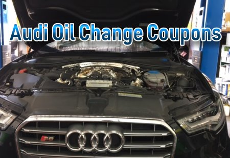 Use some of our Audi oil change coupons and save up to 30% on conventional, high-mileage or premium synthetic motor oil