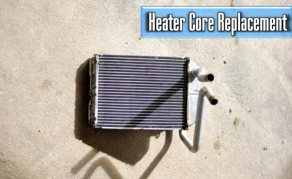 the average cost of a car heater core replacement