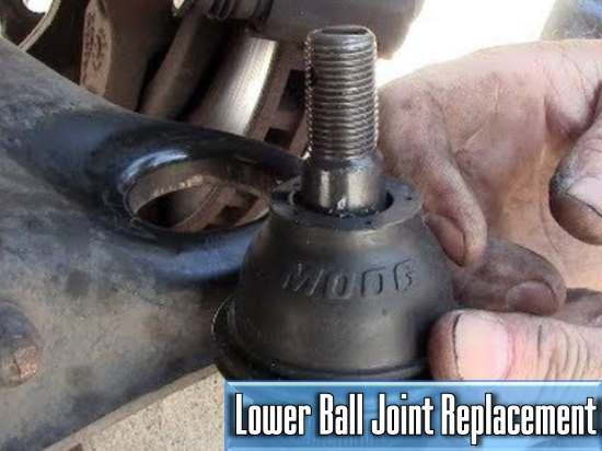 the average price of the lower ball joint replacement