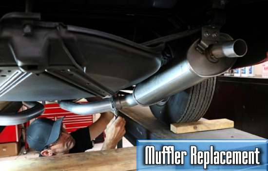 the average price of the car muffler replacement