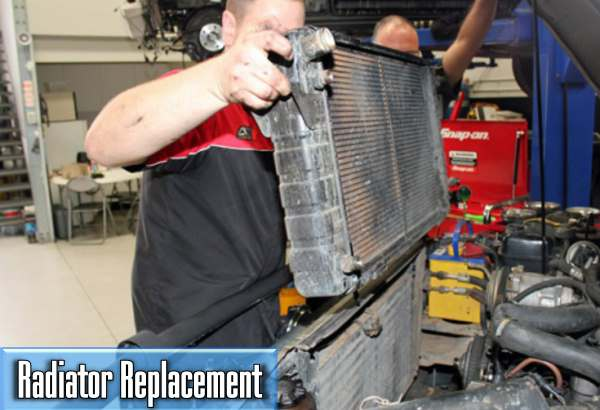 what is the average price of a car radiator replacement