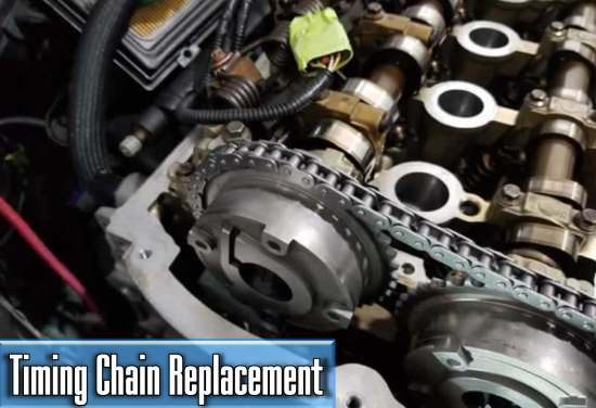 the average price of a timing chain replacement