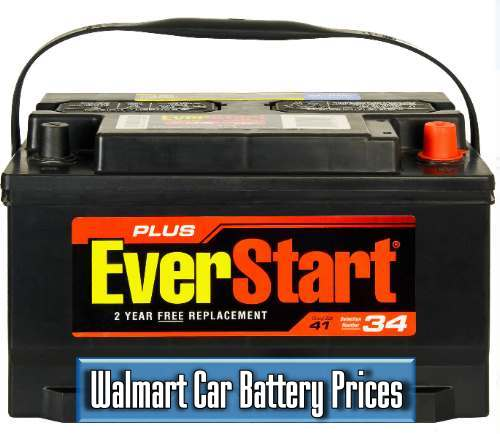 Walmart car battery prices and warranty
