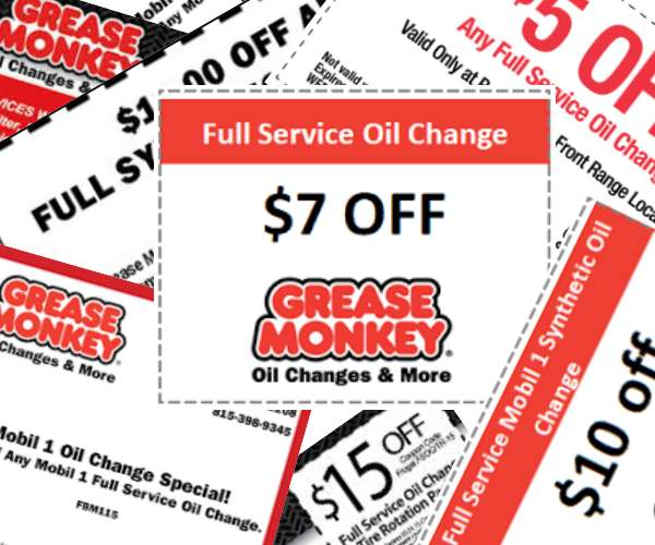 Grease Monkey oil change coupons