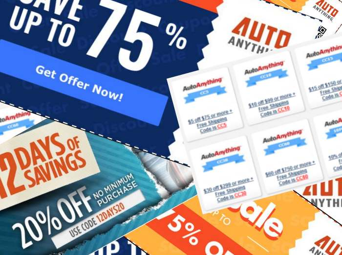 AutoAnything coupons and promo codes