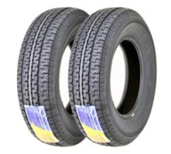 2 New Free Country Trailer Tires ST 205/75D15 Top for Heavy Loads